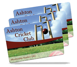 cricket club membership card examples