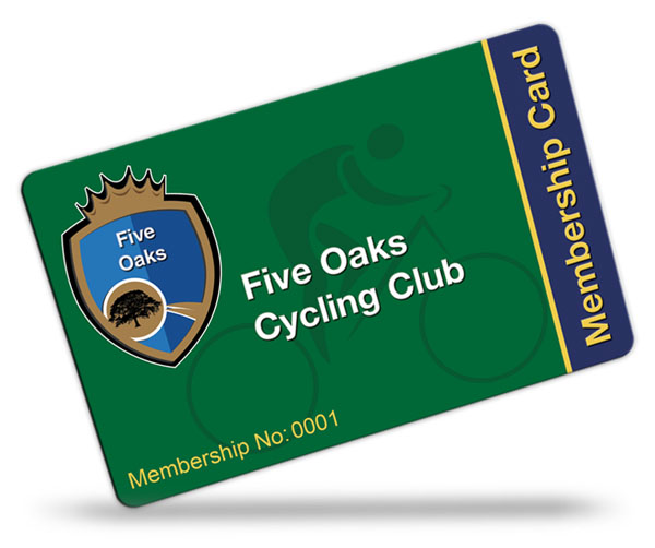 cycling club and pool club membership card examples