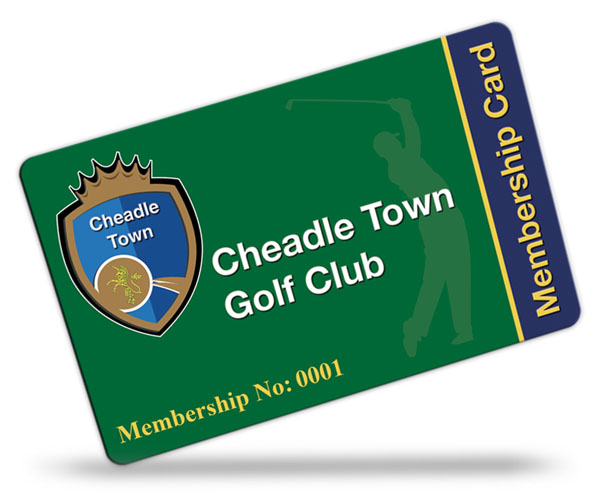 Cheadle Town golf Club Membership Cards