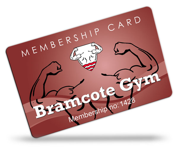 gym club and leisure club membership card examples