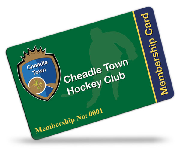 Cheadle Town Hockey Club Membership Cards