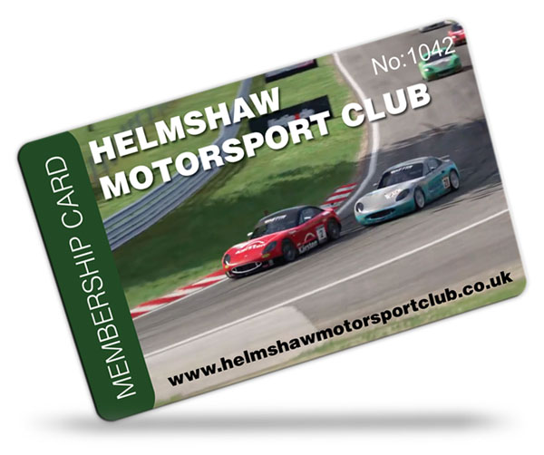 motorsport and car club membership card examples