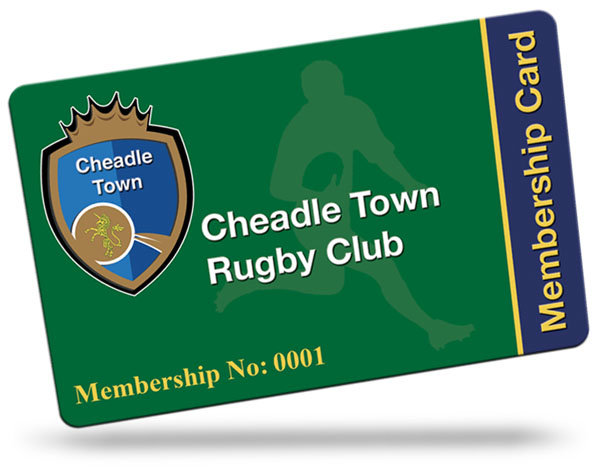 Cheadle Town rugby Club Membership Cards
