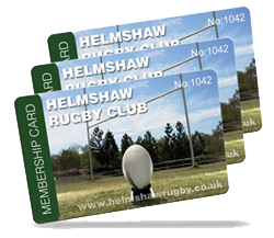 rugby club membership card examples