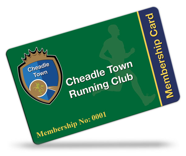 Cheadle Town Running Club Membership Cards