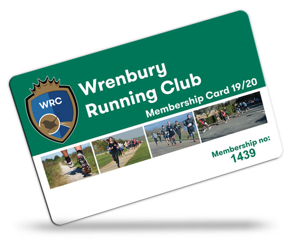 running club membership card examples