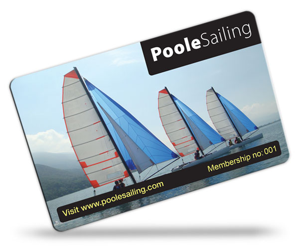 sailing club membership card examples