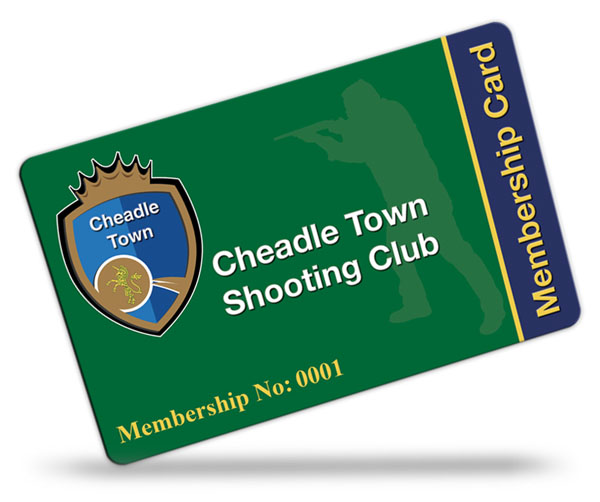 shooting club membership card examples