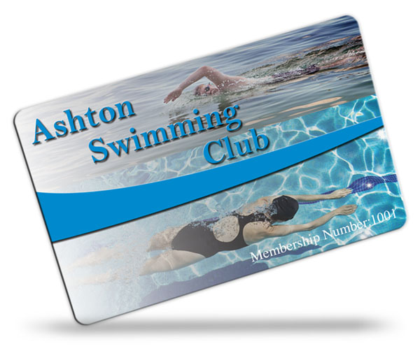 swimming club membership card examples