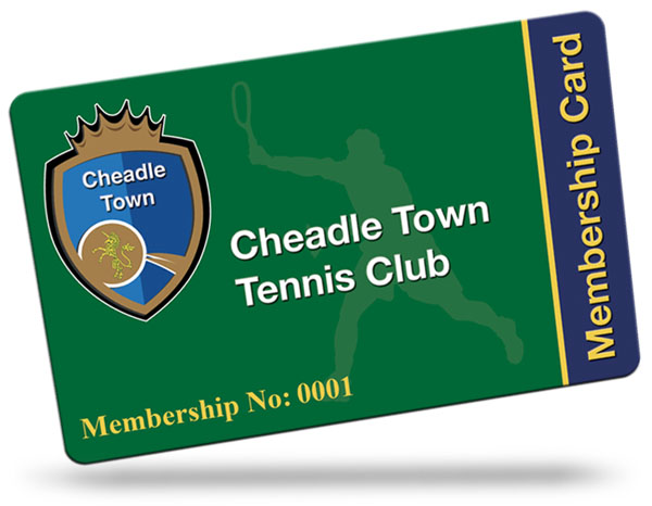 Cheadle Town tennis Club Membership Cards