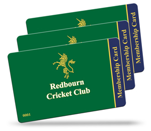 Redbourn Cricket Club membership card