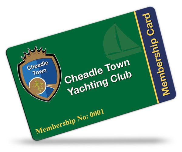 Cheadle Town Yachting Club Membership Cards