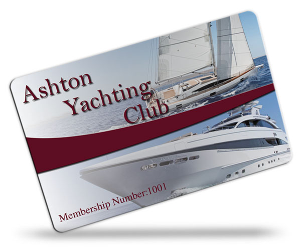 yachting club membership card examples