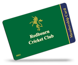 Redbourn Cricket Club's membership cards