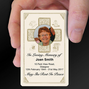 memorial plastic cards printed