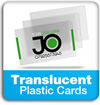 frosted translucent clear plastic business cards information