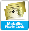 metallic plastic cards