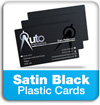 satin black plastic cards