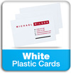 white plastic business cards information