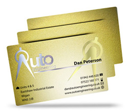 metallic plastic business cards