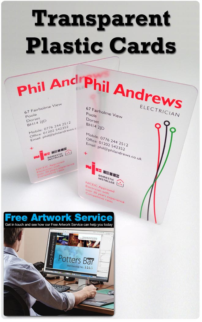 Transparent Business Cards - Clear Business Cards - CPcards