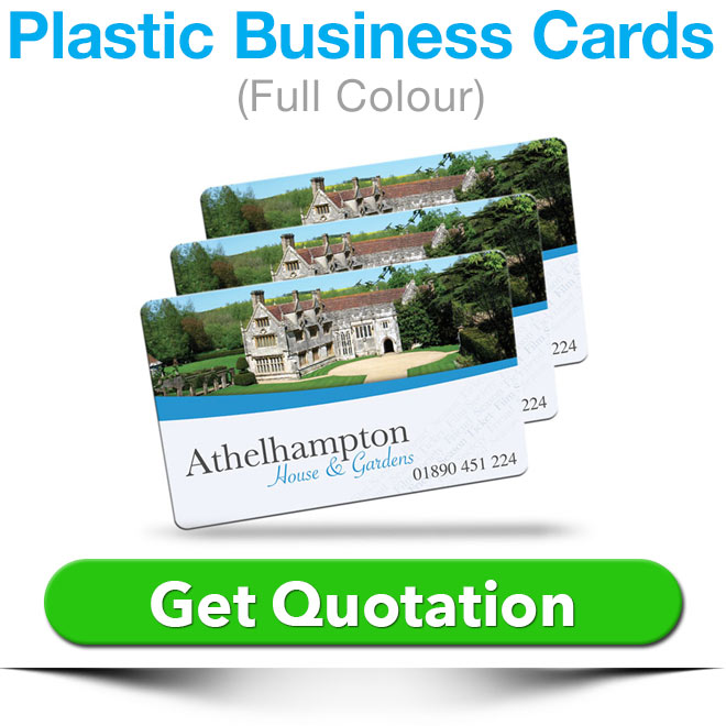 plastic business cards quote