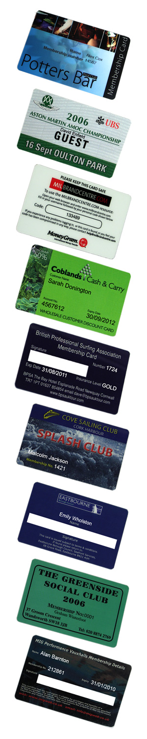 bureau personalisation on plastic cards