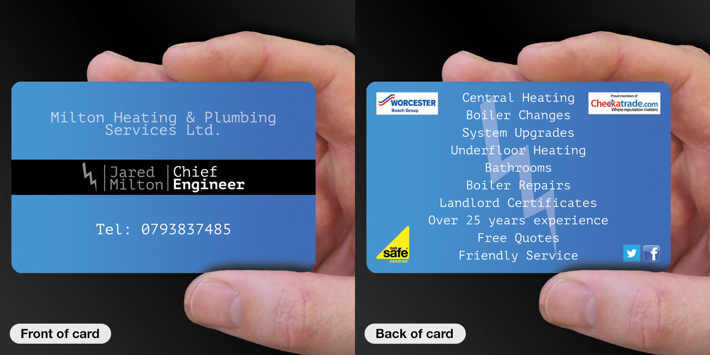 Business card printing for plumbers cpcards example plumber 10 reheart Images