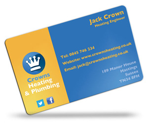 Business Card Printing for Plumbers - CPcards