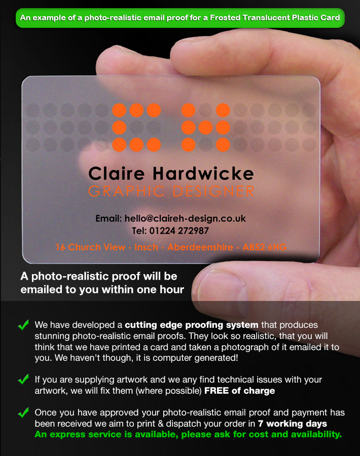 Translucent Business Cards Prices - CPcards