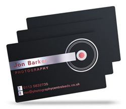 The Cottage Restaurant satin black plastic cards