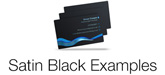 satin black plastic card examples