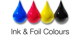 Ink colours available on our satin black plastic cards