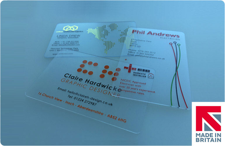 See Through Business Cards Printed CPcards