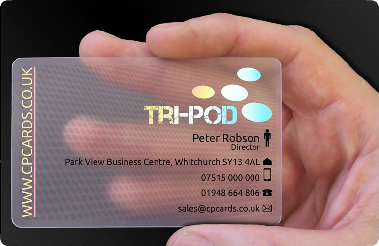 Transparent business cards translucent plastic cards cpcards 1 reheart Choice Image