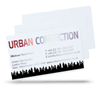 white plastic business cards