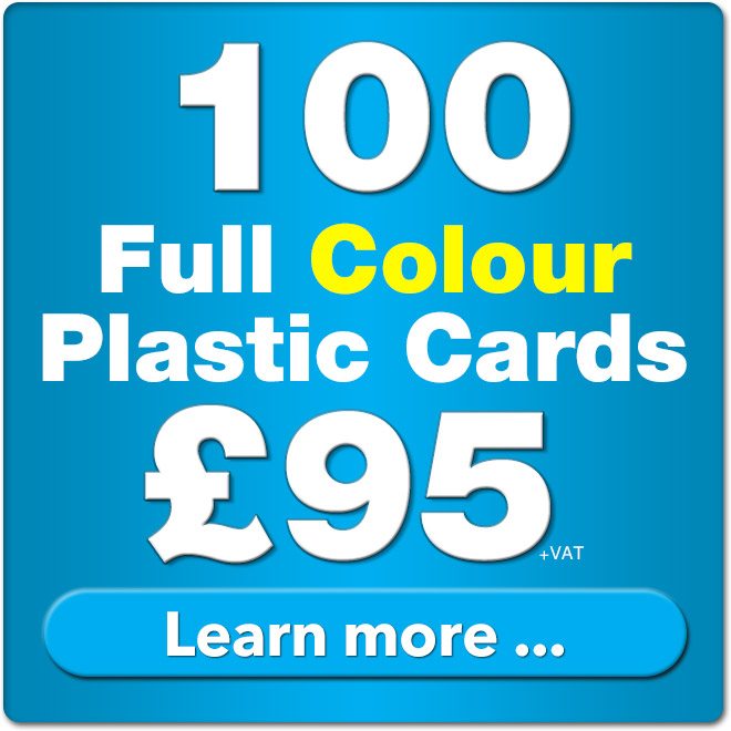 100 plastic cards for £89
