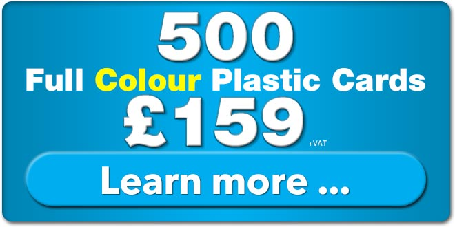 500 plastic cards for £155