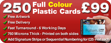 plastic cards special offer