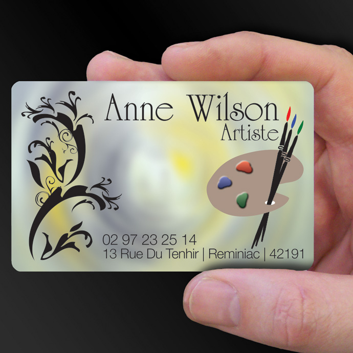 Plastic card examples cpcards plastic cards for ann wilson artist is design of the week reheart Image collections