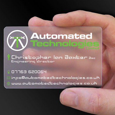 Plastic Cards for Automated Technologies is design of the week