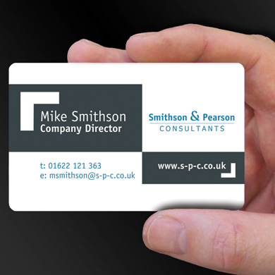 plastic card printing for Mike Smithson - business consultant is design of the week