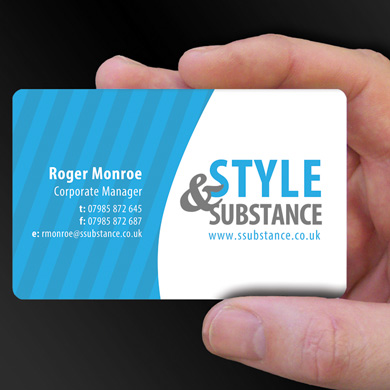 Plastic card examples cpcards plastic card printing for style and substance a styling company is design of the week reheart Image collections