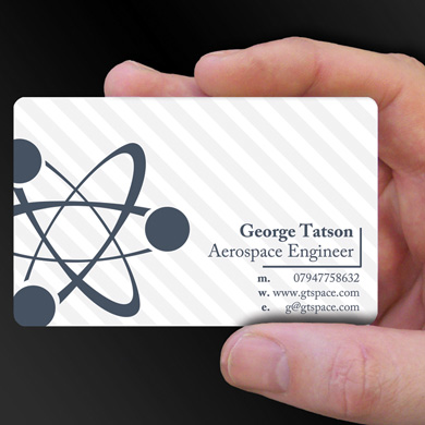 plastic card printing for George Tatson - an Aerospace Engineer is design of the week