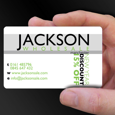 Plastic Cards for Jackson Wholesale is design of the week