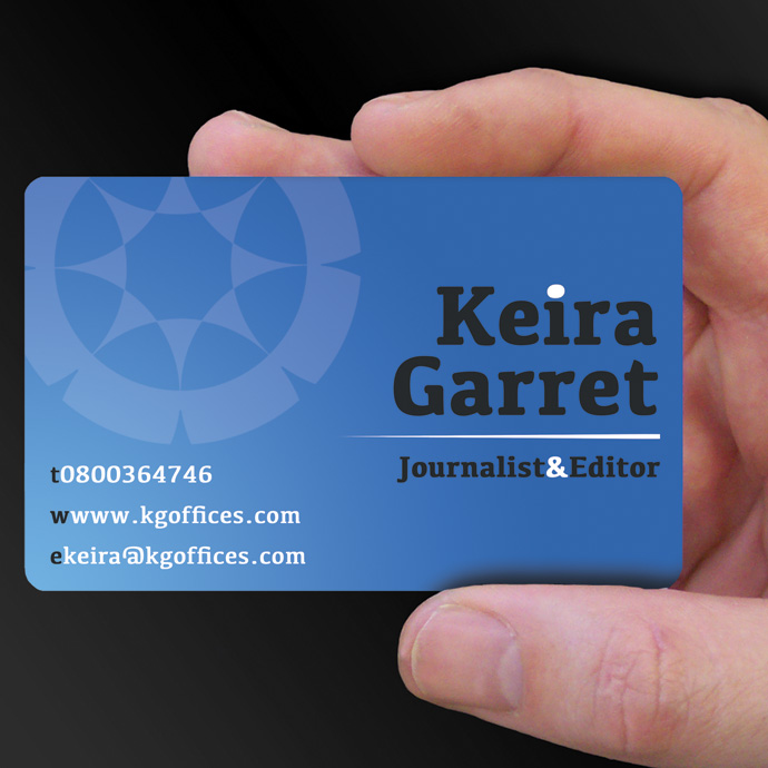 Plastic Cards for Keira Garret is design of the week