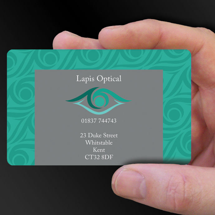 Plastic Cards for Lapis Optical is design of the week