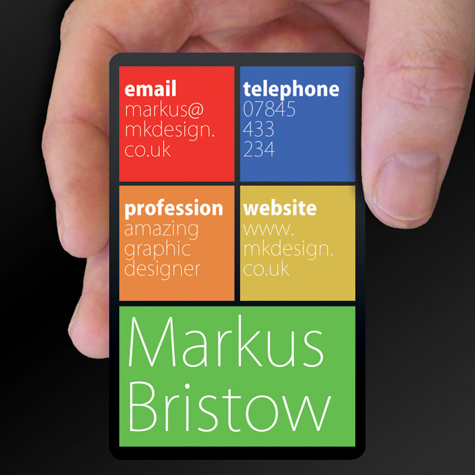 Plastic Cards for Markus Bristow is design of the week