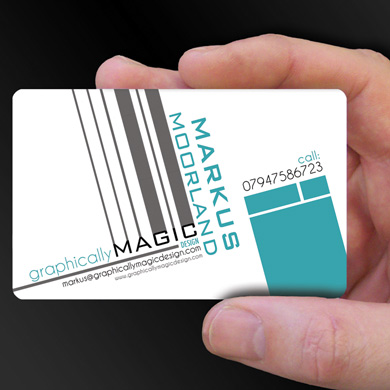 plastic card printing for Markus Moorland, a Graphic Designer from Middlesborough, is design of the week