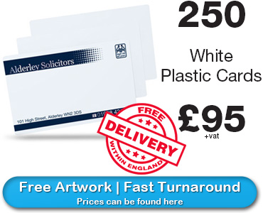 white plastic card prices